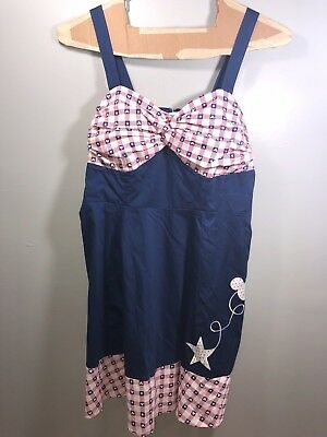 287d79a613d92 NEW Disney Parks Americana All American Girl Dress Shop Dress USA Mickey 3XL
