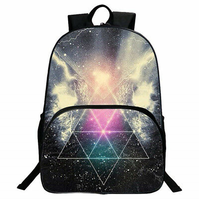 SKL School Backpack Galaxy Pattern Vintage Style Unisex Fashion Casual Bag UK