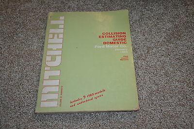Mitchell collision estimating guide 1/85 Ford Lincoln Mercury