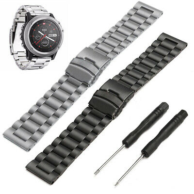 For Garmin Fenix 3/3 HR Watch Stainless Steel Replacement Band Metal Wrist Strap