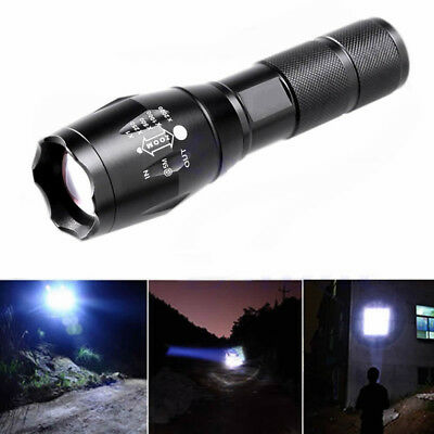 Super Hell 5000LM 5Modes CREE-XMLT6 LED 18650 Zoomable Flashlight Torch Light
