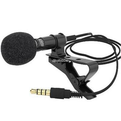 Mini Clip-on Lapel Microphone Hands-free 3.5mm Condenser Wired B98B