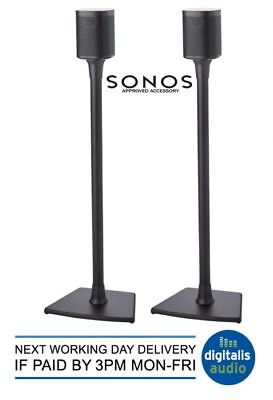 SANUS WSS22-B2 SONOS APPROVED Black Speaker Stands One,PLAY:1 & PLAY:3