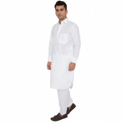 White Cotton Kurta Pajama For Men  Indian Clothing