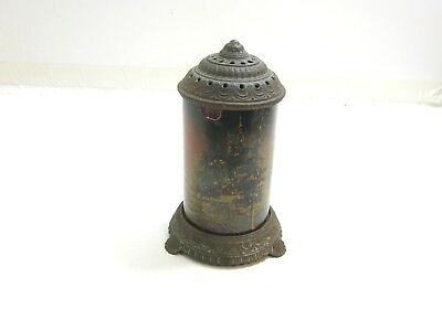 Antique Art Deco 1930's Forest Fire Metal & Glass Motion Lamp Scene In Action No