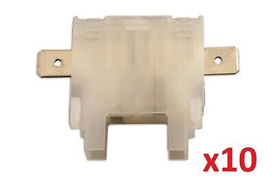 Standard Blade Fuse Holder White Pk 10 Connect 35175