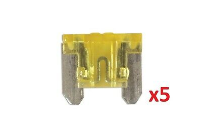 20Amp Low Profile Mini Blade Fuse Pk 5 Connect 36848