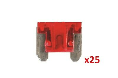 Connect 30440 Low Profile Mini Blade Fuse 10-amp Red Pack 25