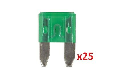 Mini Blade Fuse 30-Amp Green Pack 25 Connect 30432