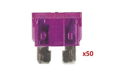 Connect 30411 Auto Blade Fuse 3-amp Violet Pack 50