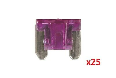 Connect 30436 Low Profile Mini Blade Fuse 3-amp Violet Pack 25