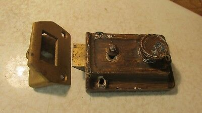 Old Cast Iron Dead Bolt Rim Lock No. 5