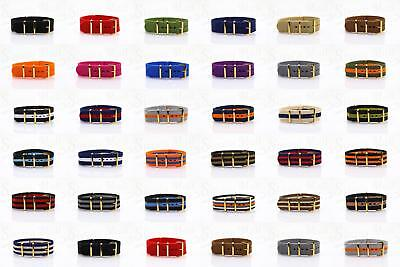 Zulu starp Navy Military nato watch Strap Band Army Diver Watch band Gold Buckle