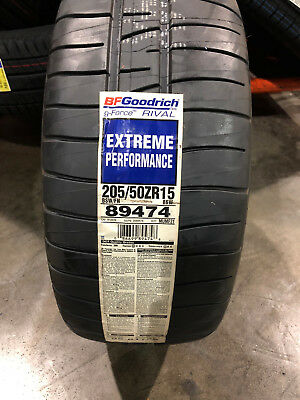 2 New 205 50 15 BFGoodrich g-Force Rival Extreme Performance Tires