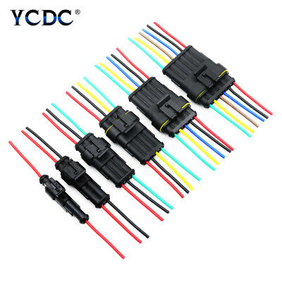 1-6 Pin Car Auto Waterproof Electrical Plug Connector 18 AWG With Wire 2.4mm A9