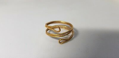 Bronze Age Gold Spiral Ring