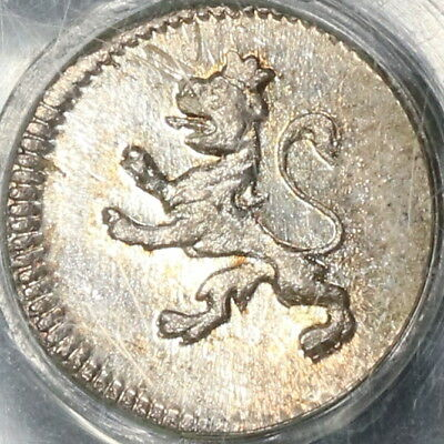 1821 PCGS MS 64 GUATEMALA Silver 1/4 Real Spain Colony Coin (18030401D)