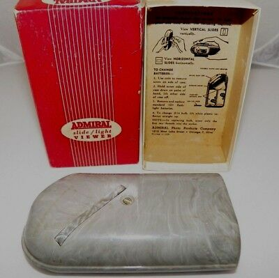 ADMIRAL Slide / Light Viewer with Original Box and Instructions Printed in Lid