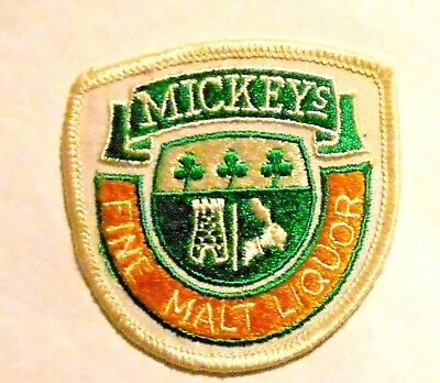 "Mickeys  Malt Liquor Beer Patch 3""  inches  Ale  Vintage"