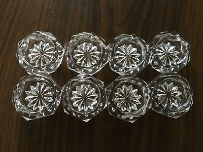 Vintage Individual Crystal SALT CELLARS - Set of eight (8)