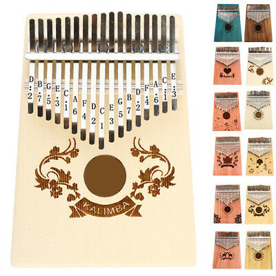 Kalimba Single Board Mahagoni Musikinstrument Nützlich Thumb Natural 10/17 Key