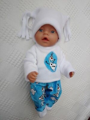 BJB dolls clothes, frozen inspired blue olaf snowsuit 4pcs fit baby born