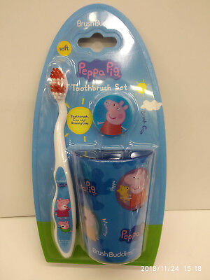 Peppa Pig 3 Pieces Kid Tooth Brushes Set 100% Original Licensed Must L@@k