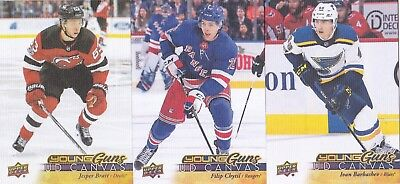 17-18 Upper Deck Filip Chytil UD Canvas Young Guns Rookie NY Rangers 2017