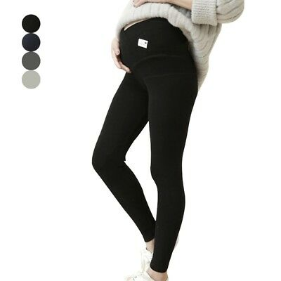 Pregnancy Over Belly Pants Leggings Maternity Winter Warm High Waist Trousers
