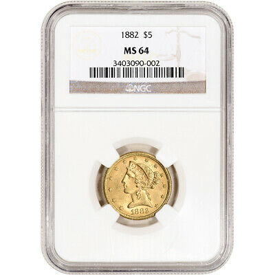 US Gold $5 Liberty Head Eagle - NGC MS64 - Random Date