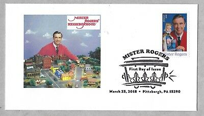 Mister Rogers Neighborhood. 2018 FDC.  Fred Rogers. First Day Cover.