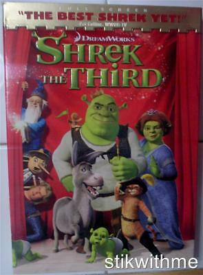 Shrek the Third (DVD, 2007, Full Screen Version)  NEW  Check out the OTHER Shrek