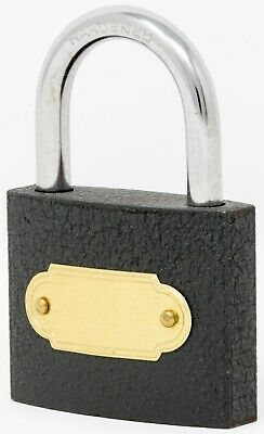 Black Padlock with 3 keys - 45 mm
