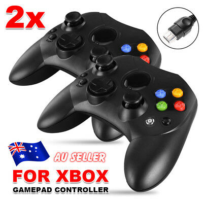 2 Dual Shock Game Controller Pad USB PC Joypad For Microsoft Original XBOX Black