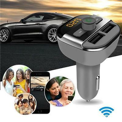 New Dual USB Wireless Bluetooth Car Kit FM Transmitter Charger Audio MP3 Player