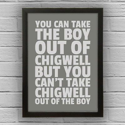 CHIGWELL - BOY/GIRL WORD WALL ART PICTURE POSTER Essex