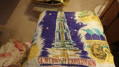 "bundle of 1962 Seattle worlds fair items- 7  28 by 28"" scarfs an a 1963 calendar"