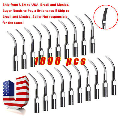 1000pcs Dental Ultrasonic Piezo Scaler Tips Scaling GD2 for DTE SATELEC SKYSEA