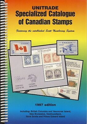 Unitrade Specialized Catalogue of Canadian Stamps 1997 Scott Numbering System
