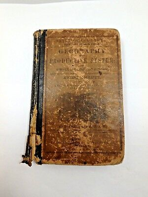 1854 Smith Geography on Productive System Hardcover Antique Book REVISED EDITION