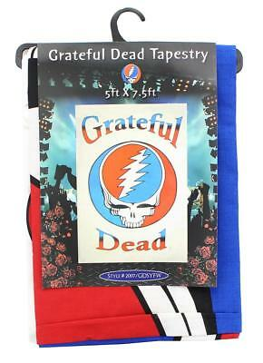 """Grateful Dead Steal Your Face Logo White 60""""x90"""" Tapestry"""