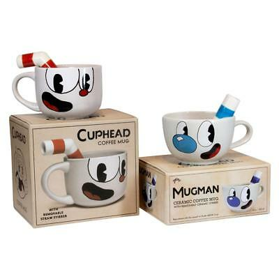 Cuphead 20oz Ceramic Molded Mug set - Cuphead & Mugman