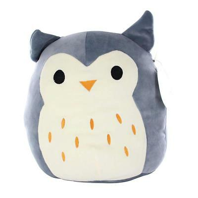 Squishmallow 13-Inch Plush Pillow - Hoot The Gray Owl