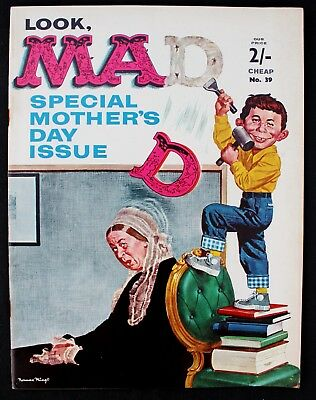 Mother's Day Issue - Mad Magazine 39 a fn+/vfn 1964 Silver Age B&W UK mag