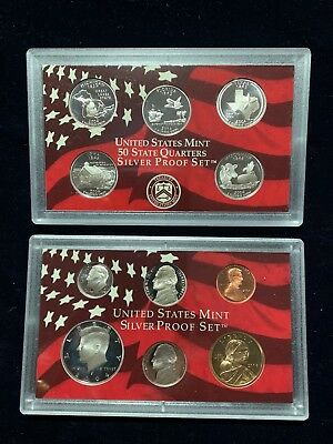 2004 US Mint Silver Proof Set 11 Piece Silver Set with State Quarters