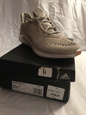 576a70663880c Adidas Alphabounce Lea Mens BY3122 Clear Brown Running Shoes Size Men s 11.5