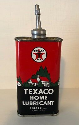 Texaco Home Lubricant Oil Can NOS