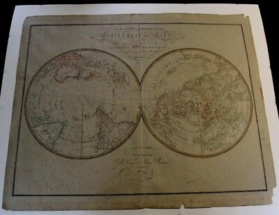 William Faden's 1804 Northern and Southern Hemisphere Map, Weimar Institute