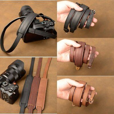 Brand Handmade Genuine Leather Camera Strap Belt For Canon Nikon Sony FUJI Leica
