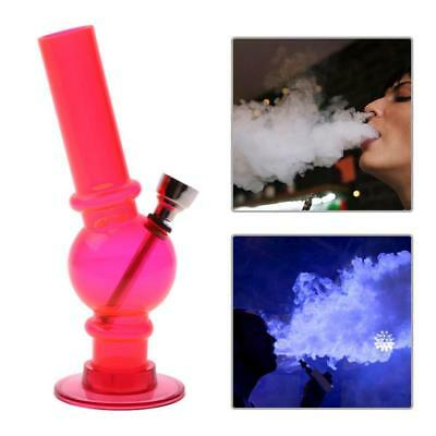 Portable Hookah Water Bong Herb Acrylic Smoking Pipe Kits Shisha Tobacco RED